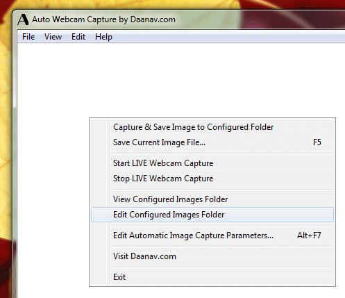 Automatically Capture Screenshots from Webcam on a Windows Computer