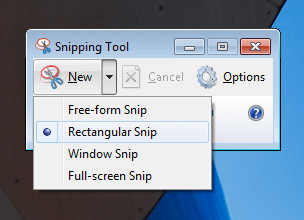 Capture Full or Partial Screenshot on Windows 7