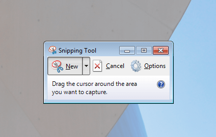 Capture Screenshot with Snipping Tool in Windows 7