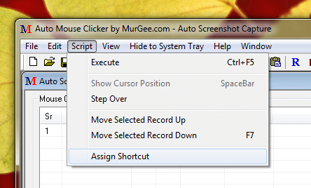 Capture Screenshots with Keyboard Shortcut