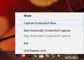 Control Auto Screenshot Capture