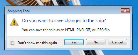 Save Screenshot as HTML, PNG, GIF or JPEG File